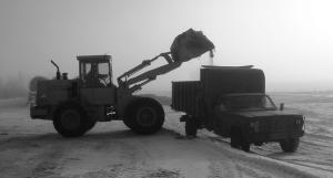 chore time, loading the silage wagon